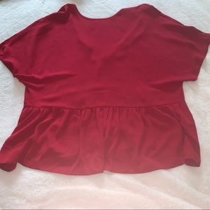 Simply Be Ladies Red/burgundy Plus Size Shirt 18